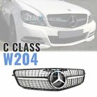 Sport Diamond Front Mesh Grille For Mercedes Benz W204 2008-2014 AMG *2 VERSION