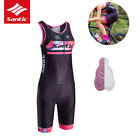 Santic Bike Cycling Jersey Triathlon Women One-piece Sleeve Anti-UV Breathable