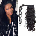 Natural Wavy Wrap Around Ponytail Extension for Woman 100% Real Human Hair 100g
