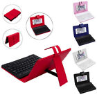 ios 7 keyboard - Leather Case w/Detachable Bluetooth Keyboard For iPhone 8 IOS/ Android 5-7Inch