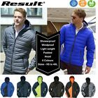 Mens Padded Quilted Puffer Hooded Bubble Neck Winter Coat Jacket Showerproof
