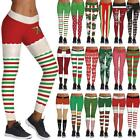 Christmas Women 3d Print Leggings Stretchy Casual Slim Skinny Sport Pencil Pants