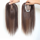 Hand-made mono 100% Human Hair Topper Hairpiece Toupee Top Piece For Women