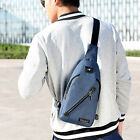 Single Shoulder Bag Crossbody External USB Port Large Capacity Canvas Bagpack