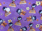 Little Girl Birthday Princess Purple BG 100% Cotton Fabric FQ-Yard Dressmaking