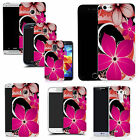 hard durable case cover for samsung & other mobile phones - pink hybrid flower