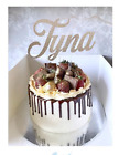 "6"" Glitter Card Cake Topper NAME only"
