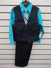 boys vest suit - Boys Holiday Editions $39.99 4pc Black & Turquoise Vest Suit Size 5 - 12