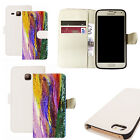 pu leather wallet case for majority Mobile phones - philosophical white