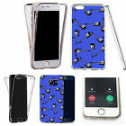 Shockproof 360° Silicone Clear case cover for many mobiles - design ref zx1049