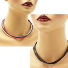 Multi-Strand 3 mm Leather Cord Necklace or Choker Custom Length Colors Handmade