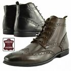 Men's Quality Leather Desert Boots Smart Casual Brogue Ankle Shoes UK6-UK13