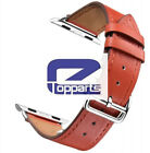 Genuine Leather Band Deployment Buckle Single Tour Strap for Apple Watch 4/3/2