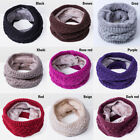 Fashion Women's Fall Rabbit Velvet Knitted Circle Scarves Cotton Infinity Scarf