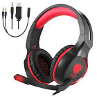 Adjustable Gaming Headset Headphone Stereo Mic Earphone Ear-Cup For ipone 7 PC
