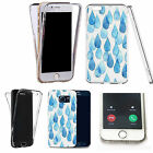 360° Silicone gel full body Case Cover for many mobiles - blue raindrops.