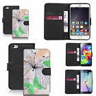 pu leather wallet case for many Mobile phones - soft butterfly
