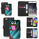 pu leather wallet case for many Mobile phones - pink owl tree