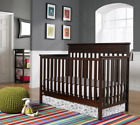4-in-1 Convertible Crib  Fixed Side Baby Nursery Furniture Adjustable