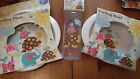 beautiful Plastic Baby sets Plate ,Bowl and Bottle