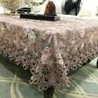 lace square tablecloth - Lace Tablecloth Heavy Floral Embroidery Square Dust-proof Table Cloth Cover New
