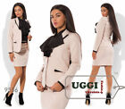 Business style Woman Skirt Suit Suiting Long sleeve Mini skirt Wear to work Casu