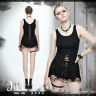 punk visual heavy rock demon spine iron chains cut-out tunic tank top【TT062】