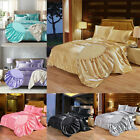 Luxury Ice Silk Fitted Sheet Twin Queen King Bedding Satin Sheet Mattress Cover