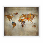 Retro World Map Art Canvas Print Wall Painting Picture Unframed Mural Home Decor