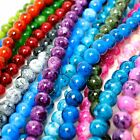 Marble Glass Beads 8mm Round - Over 15 colours - 50 beads per string