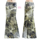 Floral Paisley Boho Olive Sublimation long maxi skirt (S/M/L/XL/1XL/2XL/3XL)