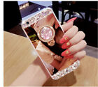 Mirror Bling Diamond Rhinestone Ring Kickstand Case Cover For Sumsung Note 8