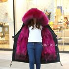 S-3XL Hot Fur Hooded With Fur Lined Parka Womens Winter Warm Coat Trench Parka