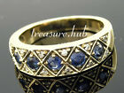 R275 Genuine 9K, 10K or 18K Solid Gold Natural Sapphire & Diamond 5-Stone Ring