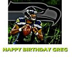 NFL Seattle Seahawks Russell Wilson Football  Edible image Cake topper on eBay