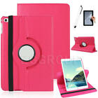 Rose 360 Rotating Leather Smart Cover Case For iPad 2 3 4/iPad Air 2/iPad Mni