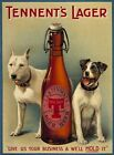 TENNENT'S LAGER JACK RUSSELL STAFFY BEER METAL PLAQUE TIN SIGN VINTAGE RETRO 191