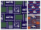 NFL Football Team Seahawks Broncos Quilting Cotton Fabric HALF YARD PIECE