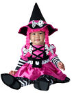 Infant Toddler Girls Pink Black Witch Jumpsuit Romper Polka Dots Stripes Costume