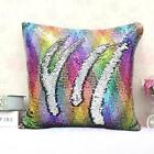 "MYAFASHION Pillow Cover Cushion Case Reversible Sequin Swipe Sofa 16""x16"" (1 PC)"