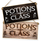 "WITCHCRAFT AND WIZARDRY HANGING SIGN ""POTION CLASS"" dark or light"