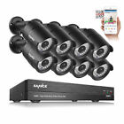 Wireless 8CH DVR Kit CCTV Home Security System with IP Camera and Hard Drive US