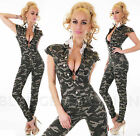 Women's Camouflage Denim Skinny Jeans Jumpsuit Overalls Slim Fit All in One 8,10