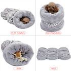 3 in 1 Pet Cat Sleep Bag Soft Tunnel Mat Cushion House Kitten Egg Roll Bed