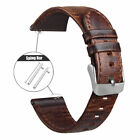18 20 22mm Quick Release Pin Retro Leather Watch Band Replace Wrist Strap Bands image