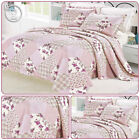 3 Piece printed Patchwork Embroidery Bedspread With 2 Matching Pillow Cases