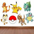 Pokemon Kids Bedroom Vinyl Decal Wall Art Sticker - 7 Character Selection