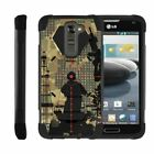 For LG K Series Phone Case Slim Dual Layer Hybrid Kickstand Cover Military War