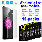 10X Packs 9H Tempered Glass Screen Protector For iPhone LG MOTO Samsung HTC Sony