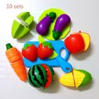 Set Plastic Cutting Fruits and Vegetables Set Pretend Play Toys for Kids